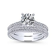 Kirsten 14k White Gold Round Straight Engagement Ring angle 4