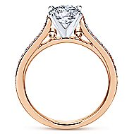 Krista 14k White And Rose Gold Round Straight Engagement Ring angle 2