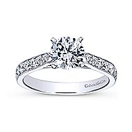 Kristen 14k White Gold Round Straight Engagement Ring