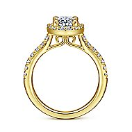 Kylie 14k Yellow Gold Oval Halo Engagement Ring angle 2