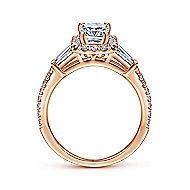 Larkin 14k Rose Gold Emerald Cut Halo Engagement Ring angle 2