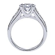 Layna 14k White Gold Round Straight Engagement Ring angle 2