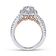 Leanna 14k White And Rose Gold Round Halo Engagement Ring angle 2
