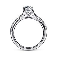 Leigh 14k White Gold Round Twisted Engagement Ring angle 2