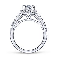 Leonia 14k White Gold Oval Halo Engagement Ring angle 2