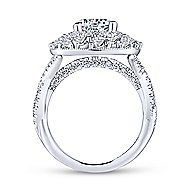 Leslie 18k White Gold Round Double Halo Engagement Ring