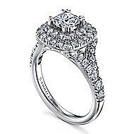 Lexie 14k White Gold Cushion Cut Double Halo Engagement Ring
