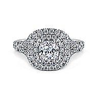 Lexie Platinum Cushion Cut Double Halo Engagement Ring