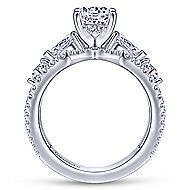 Lina 14k White Gold Round Split Shank Engagement Ring