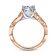 Livingston 18k White And Rose Gold Round Free Form Engagement Ring angle 2