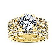 Loretta 18k Yellow Gold Round Halo Engagement Ring angle 4