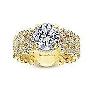 Loretta 18k Yellow Gold Round Halo Engagement Ring angle 5