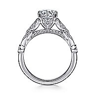 Luciana 14k White Gold Round Split Shank Engagement Ring angle 2