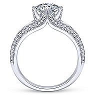 Luella 14k White Gold Round Split Shank Engagement Ring angle 2