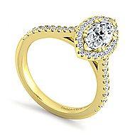 Lyla 14k Yellow Gold Marquise  Halo Engagement Ring
