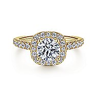 Lyla 14k Yellow Gold Round Halo Engagement Ring