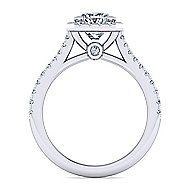 Lyla Platinum Princess Cut Halo Engagement Ring angle 2