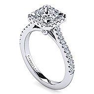 Lyla Platinum Princess Cut Halo Engagement Ring angle 3