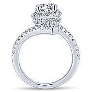 Lyra 14k White Gold Round Halo Engagement Ring angle 2