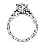 Lyssa 14k White Gold Round Straight Engagement Ring angle 2