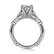 Mabel 14k White Gold Round Straight Engagement Ring angle 2