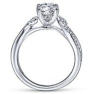 Maddie 14k White Gold Round Twisted Engagement Ring