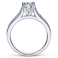 Maelin 14k White Gold Round Straight Engagement Ring angle 2