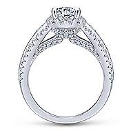Magnolia 14k White Gold Oval Halo Engagement Ring angle 2