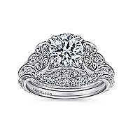 Margarita Platinum Round Halo Engagement Ring