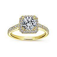Margot 14k Yellow Gold Round Halo Engagement Ring