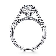 Marie 18k White Gold Round Halo Engagement Ring angle 2