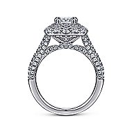 Mariella 14k White Gold Cushion Cut Double Halo Engagement Ring angle 2