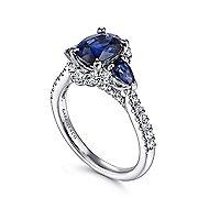 Marietta 14k White Gold Oval Halo Engagement Ring