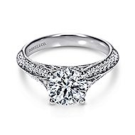 Marion 14k White Gold Round Split Shank Engagement Ring angle 1