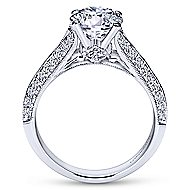 Marion 14k White Gold Round Split Shank Engagement Ring angle 2