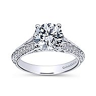 Marion 14k White Gold Round Split Shank Engagement Ring angle 5