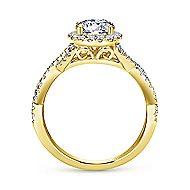 Marissa 14k Yellow Gold Round Halo Engagement Ring angle 2