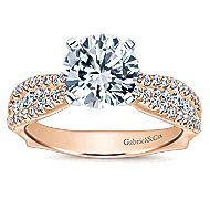 Marley 14k White And Rose Gold Round Straight Engagement Ring angle 5