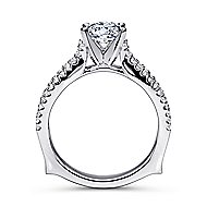 Marley 14k White Gold Round Straight Engagement Ring angle 2