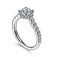 Matilda 14k White Gold Round Straight Engagement Ring