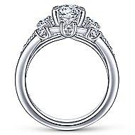 Mattie 14k White Gold Round Split Shank Engagement Ring