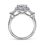 Maude 14k White Gold Cushion Cut Halo Engagement Ring angle 2