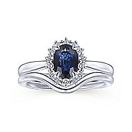 Mercy 14k White Gold Oval Halo Engagement Ring