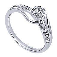 Meryl 14k White Gold Bypass Engagement Ring