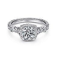 Metropolitan Platinum Round Straight Engagement Ring