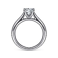 Michelle 14k White Gold Round Solitaire Engagement Ring