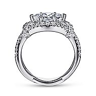 Milena 14k White Gold Marquise  Twisted Engagement Ring