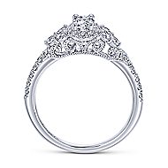 Mirabella 14k White Gold Oval Halo Engagement Ring