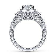 Nancy 14k White Gold Round Halo Engagement Ring