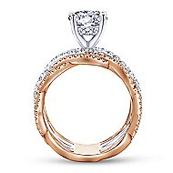Natasha 18k White And Rose Gold Round Twisted Engagement Ring angle 2